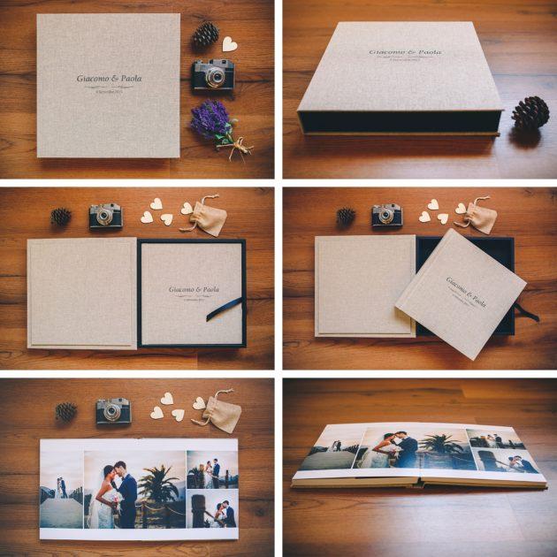 album in lino legno tessuto